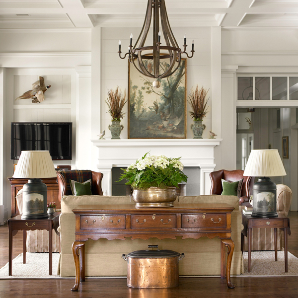 Traditional Home Interiors: New Home Interior Design: Southern & Traditional