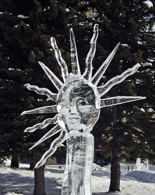 Sun ice sculpture