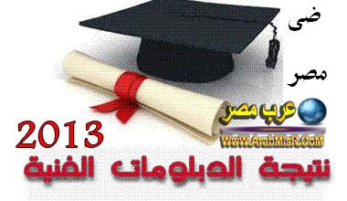 نتيجة الدبلومات الفنية 2013 لجميع محافظات مصر بالاسم ورقم الجلوس