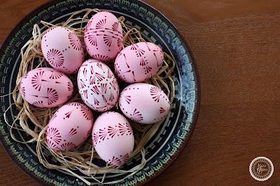 velykiniai kiaušiniai su vašku