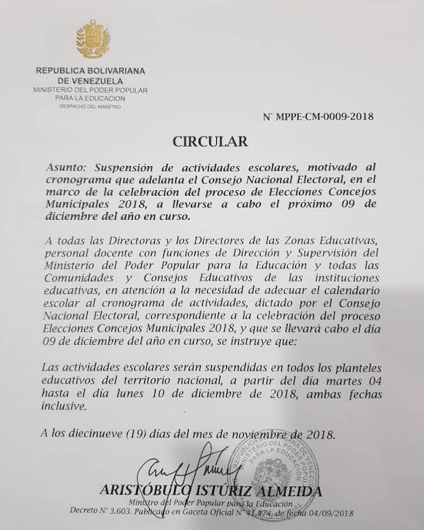 OFICIAL / Estas son las fechas de suspensión de clases por las elecciones municipales