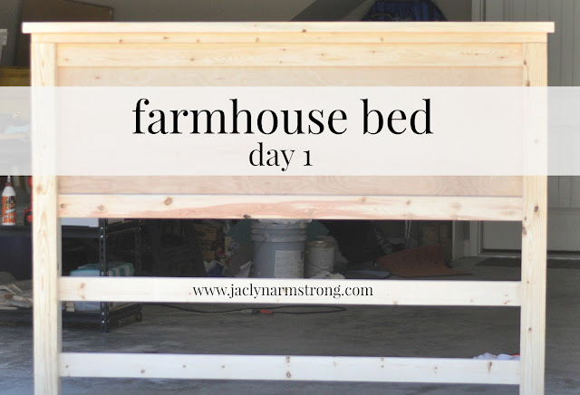 diy farmhouse bed with plans by ana white