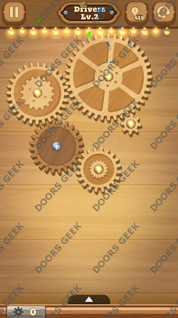 Fix it: Gear Puzzle [Drivers] Level 2 Solution, Cheats, Walkthrough for Android, iPhone, iPad and iPod