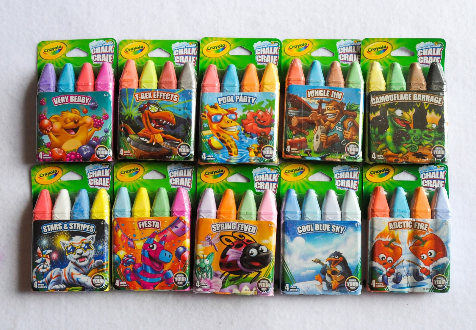 4 count crayola build your box chalk what s inside the box