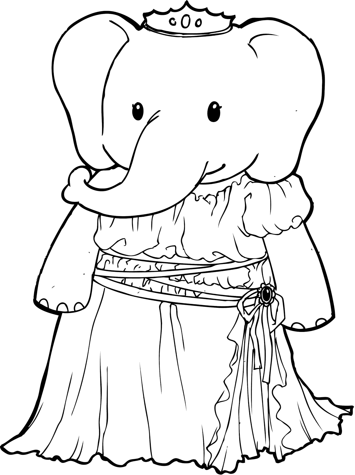 princess coloring pages brings you a very unusual coloring page of an