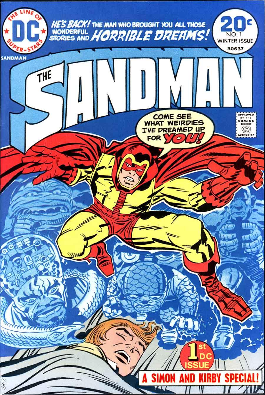 The Sandman v1 #1 dc bronze age comic book cover art by Jack Kirby