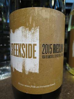 Creekside Marianne Hill Riesling 2015 - VQA Beamsville Bench, Niagara Peninsula, Ontario, Canada (88+ pts)