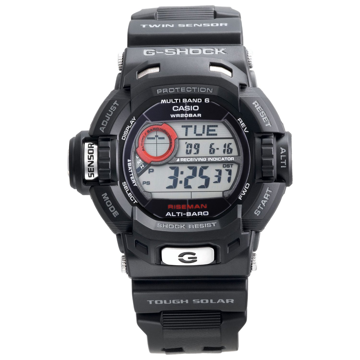 Watchshop Casio Men S Gw9200 1 G Shock Riseman Alti Therm