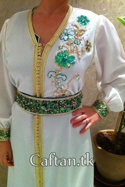 Caftan à perles oriental 2013-2014