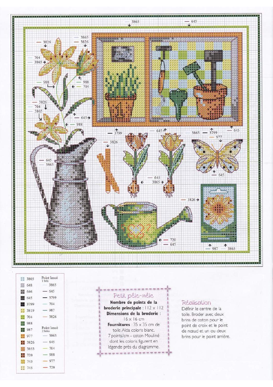 Patrones punto de cruz gratis gr fico gratis de una bella - Punto jardin ...