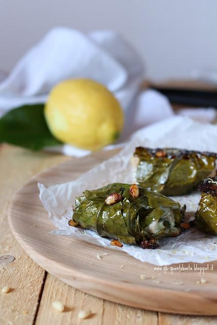 involtini in foglie di limone