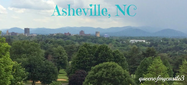 Asheville NC from the Veranda of the Grove Park Inn