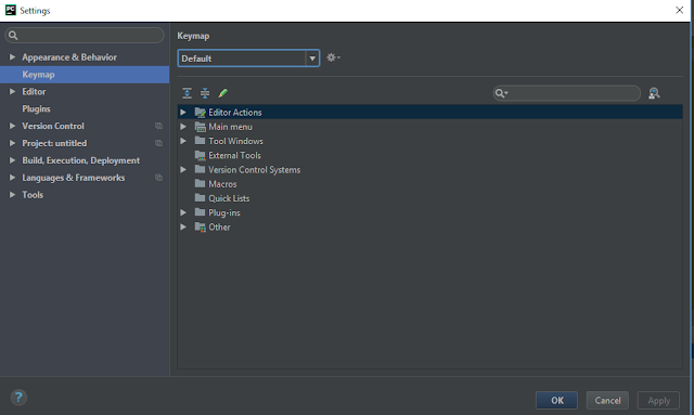 File / Settings / Keymap PyCharm