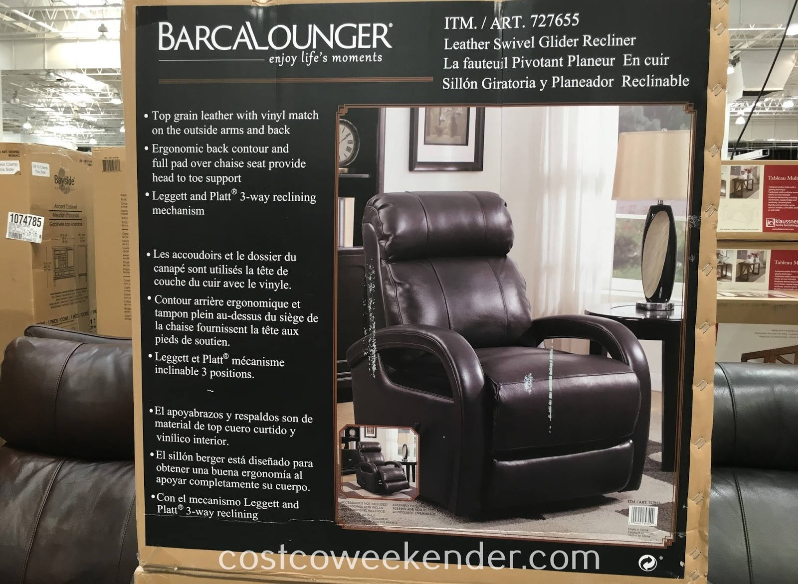 Costco 727655 - Barcalounger Leather Swivel Glider Recliner Chair - Nothing beats a comfortable chair