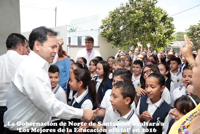 """Gobernador William Villamizar presidirá acto """"Los mejores de la educación en NdeS"""" #RSY #OngCF"""