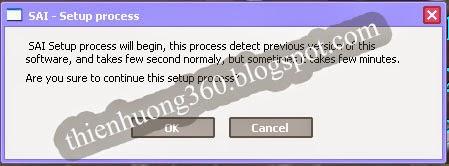 Cài đặt phần mềm Pain tool SAI
