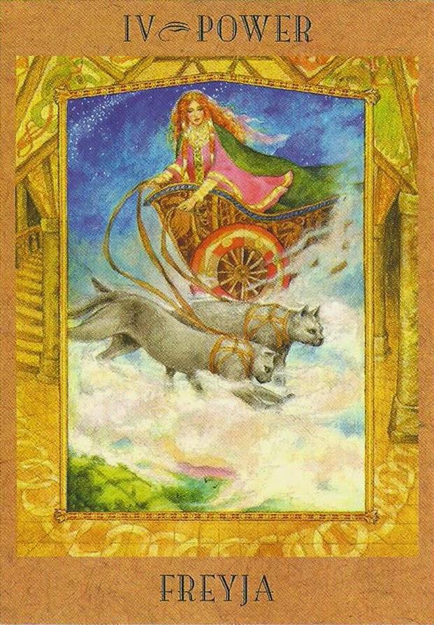Tarot da Deusa Carta IV - Freyja