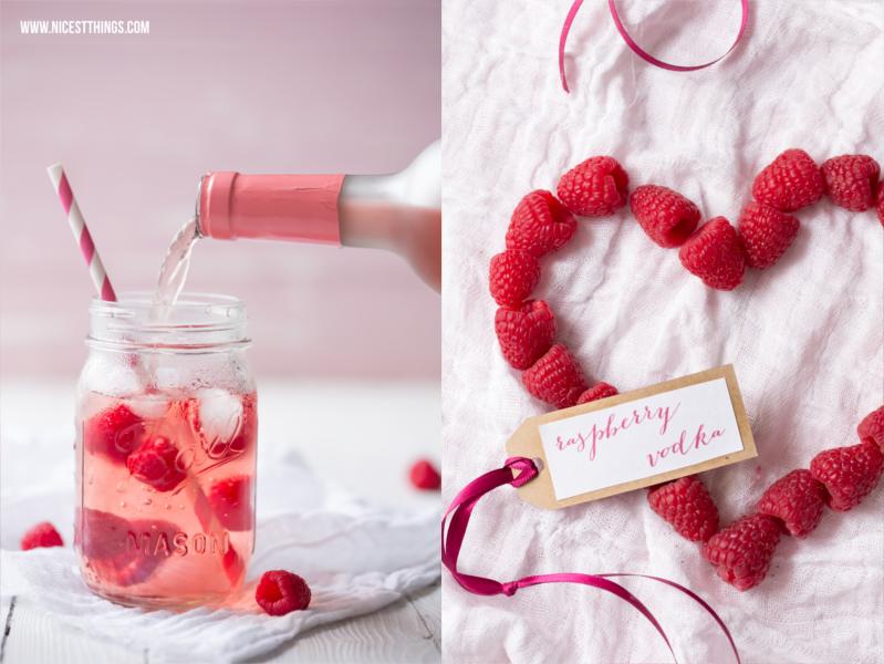 Geschenkidee zum Valentinstag Himbeerwodka