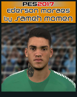 PES 2017 Faces Ederson Moraes by Sameh Momen