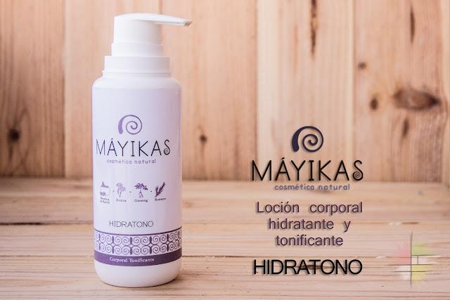 Hidratono: loción corporal hidratante y tonificante de Máyikas. Os va a enamorar.
