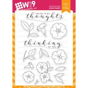 Wplus9 Design Studio Clear Stamps, Modern Petunias