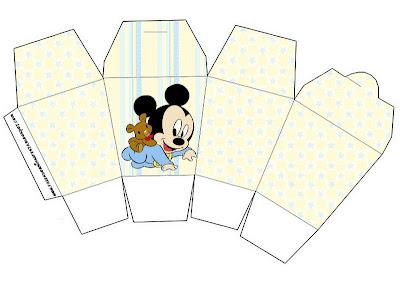 Mickey Baby Kit Completo Com Molduras Para Convites Rotulos