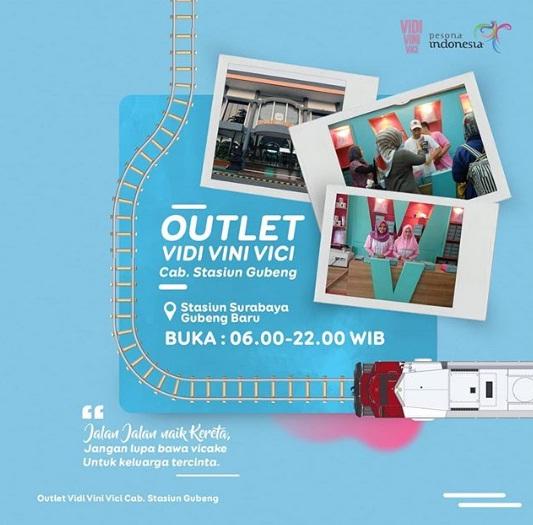 Outlet Vidi Vini Vici Stasiun Gubeng Baru Surabaya