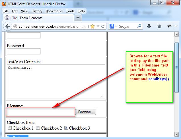 Selenium-By-Arun: 412  Using sendKeys( ) command to browser