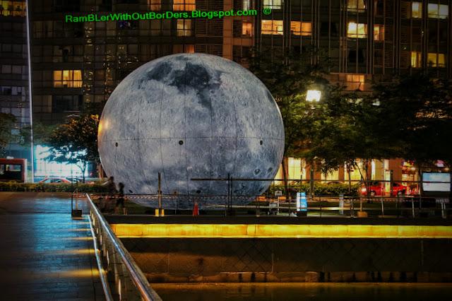 Moon Haze,  art installation, i light Marina Bay festival, Singapore