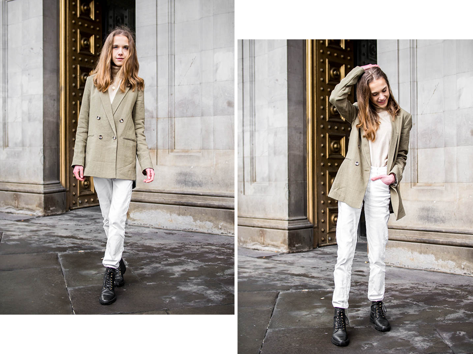 Spring fashion, green blazer - Kevätmuoti, vihreä bleiseri