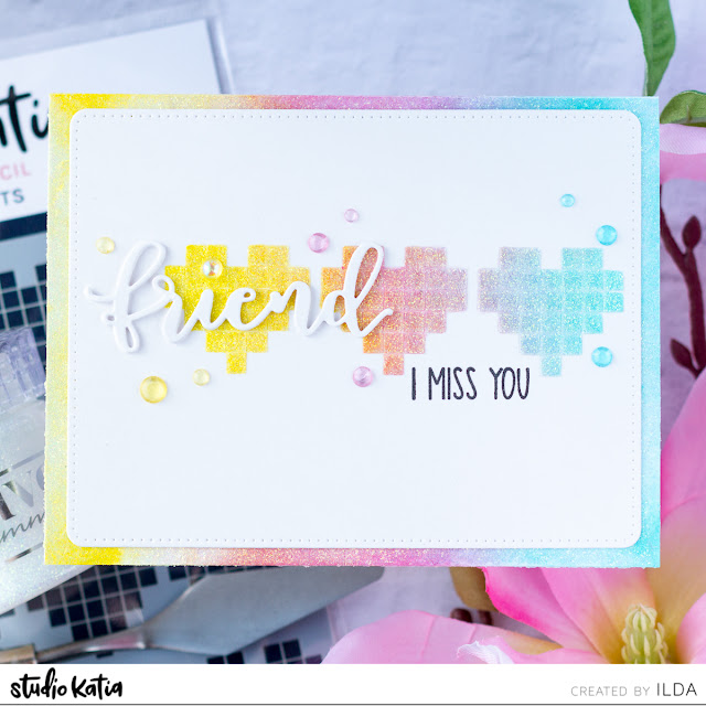 Miss You Friendship Card for Studio Katia by ilovedoingallthingscrafty.com