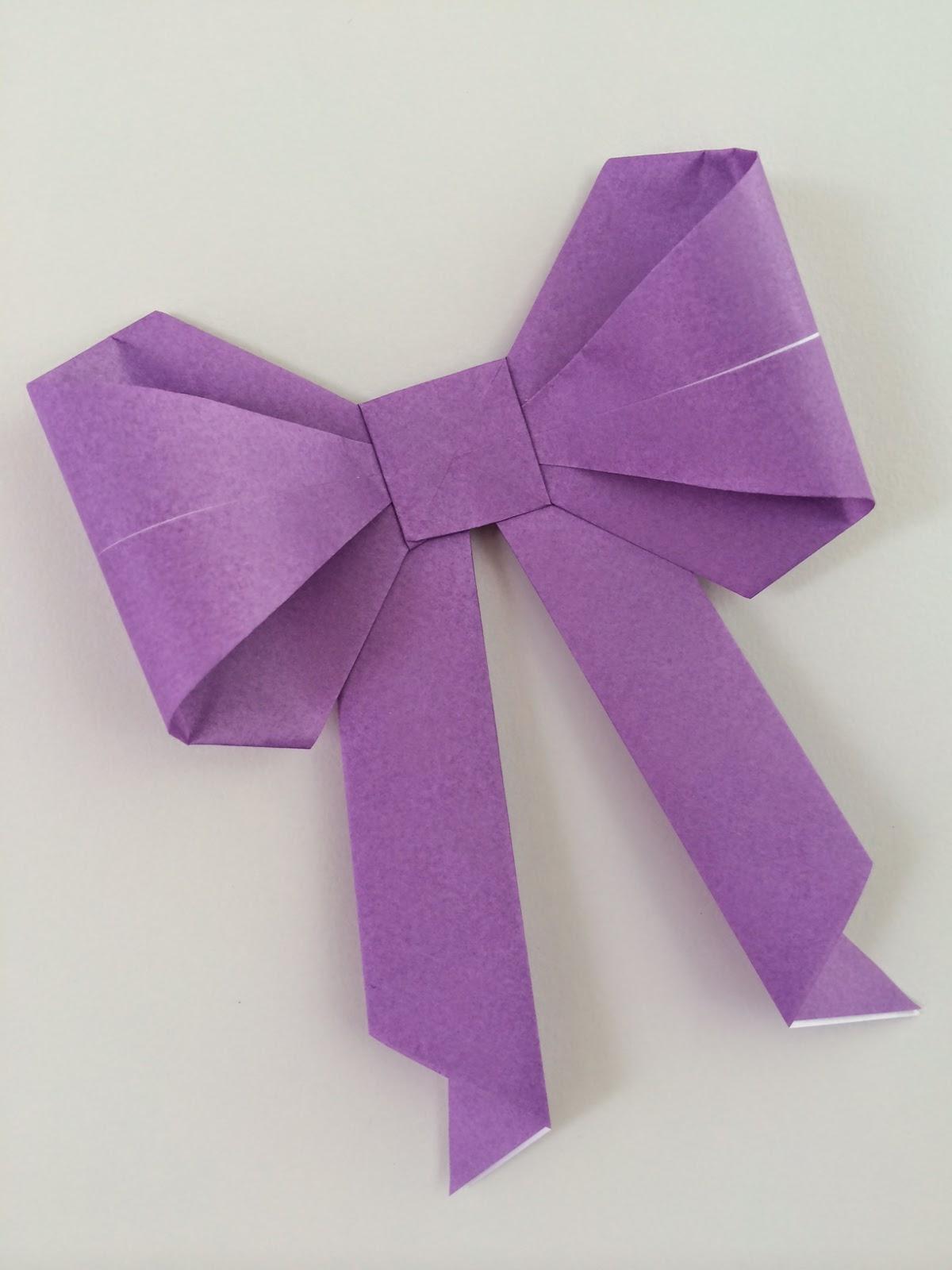 Random Crafting Adventures: Origami Bows - photo#26