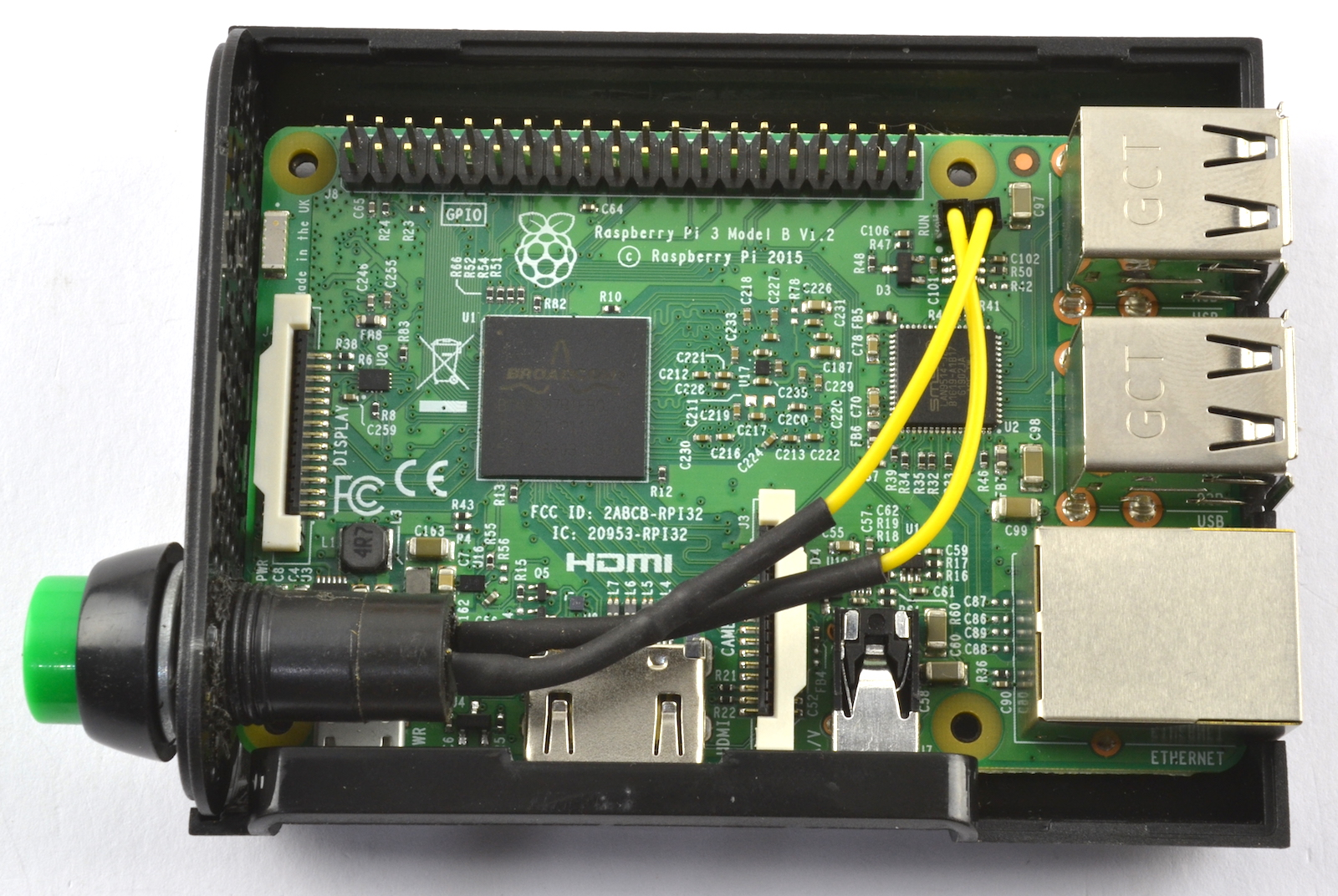 how to connect a button to raspberry pi 2011