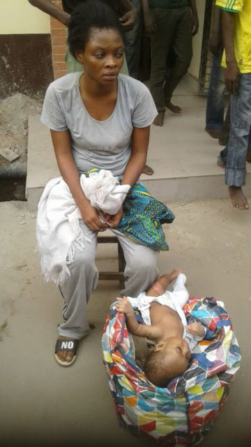 mother abandon baby oshodi lagos bridge