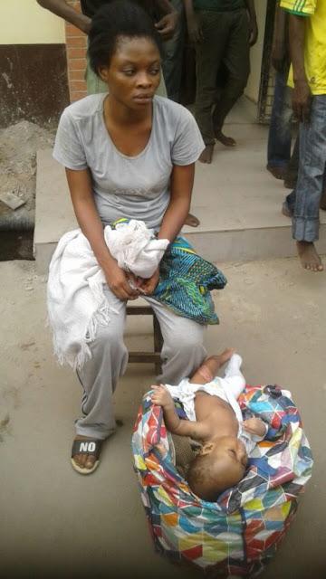 mother abandon baby oshodi lagos bridge