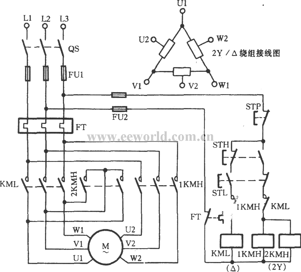 3 phase 2 speed 2 direction motor wiring diagram