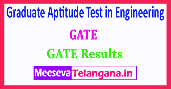 GATE Rank Card Graduate Aptitude Test in Engineering GATE 2018 Results Download