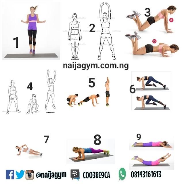Thursday 17/01  Workout plan.