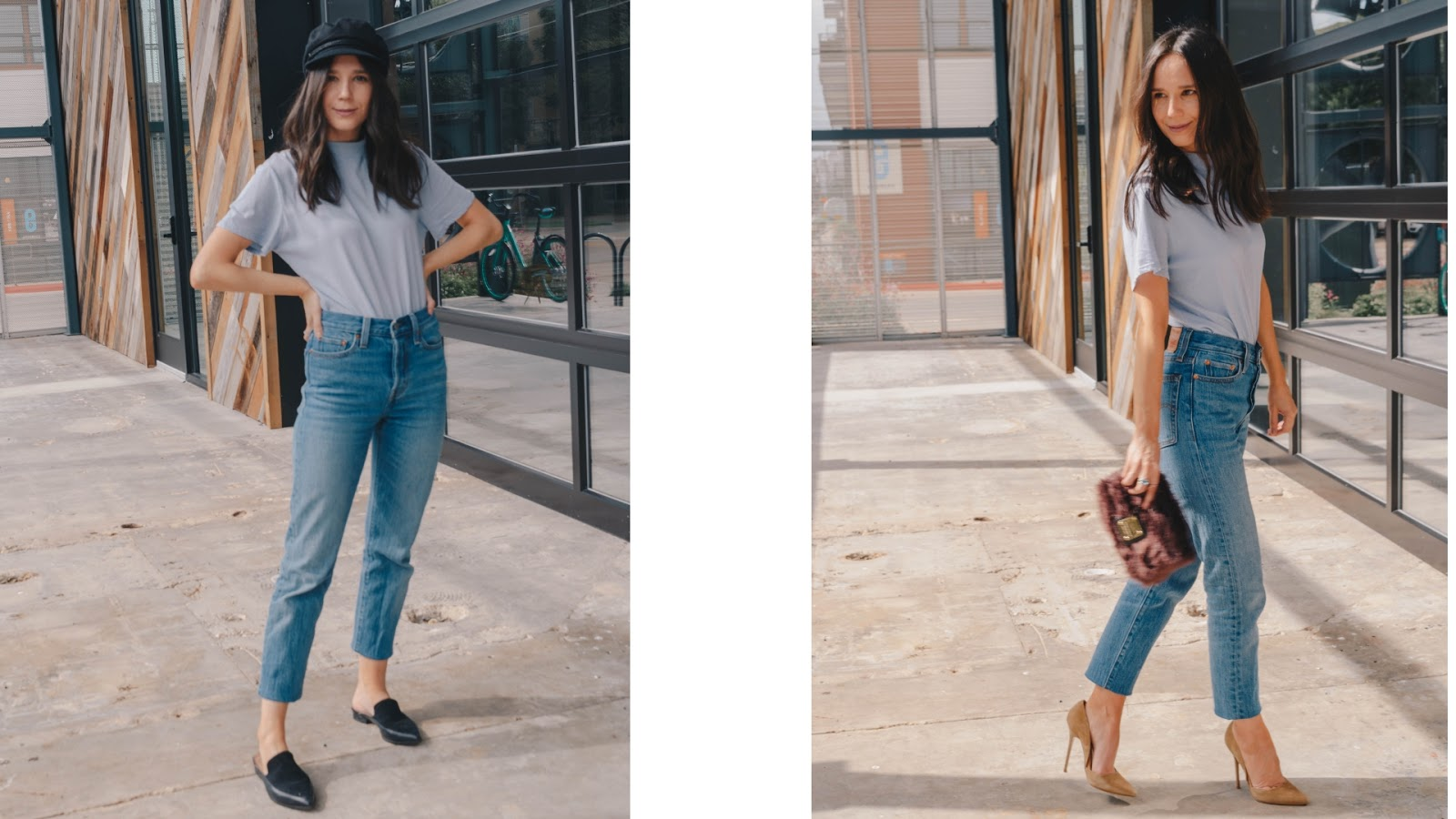 Two ways to style a mock tee