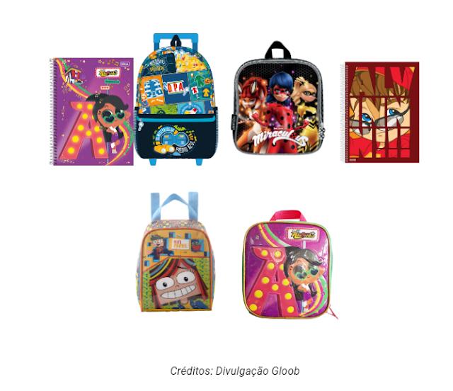 Produtos de volta às aulas do Gloob já estão disponíveis no mercado