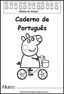 Capa caderno para português