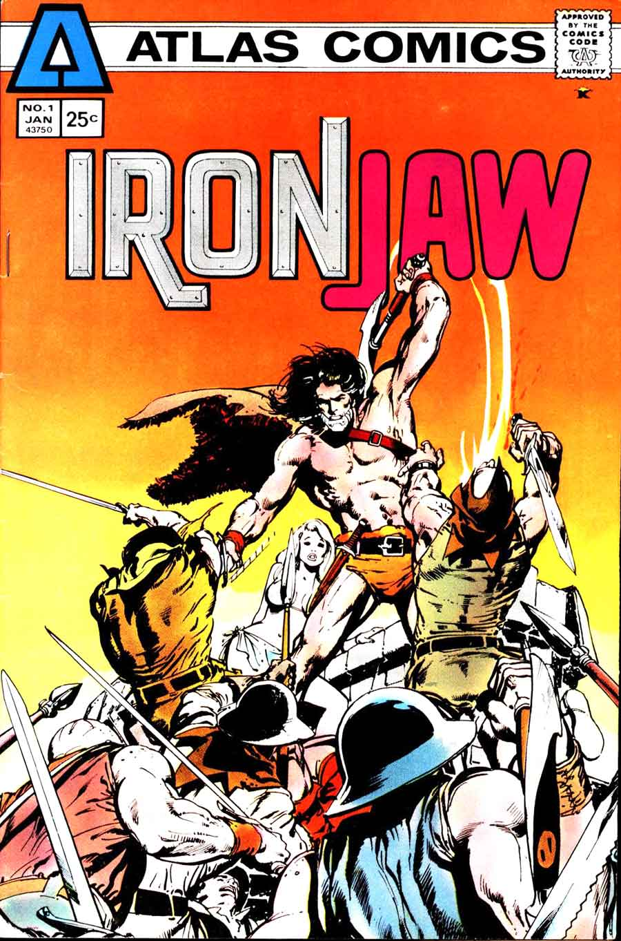 Ironjaw v1 #1 atlas seaboard comic book cover art by Neal Adams