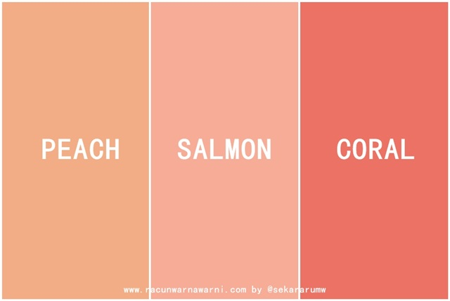 Peach vs Salmon vs Coral