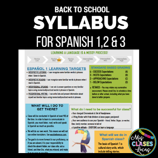 Spanish Class Syllabus
