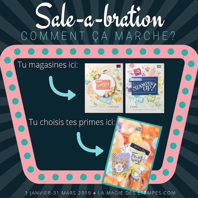 La promotion Sale-a-bration Stampin' Up! est commencée!