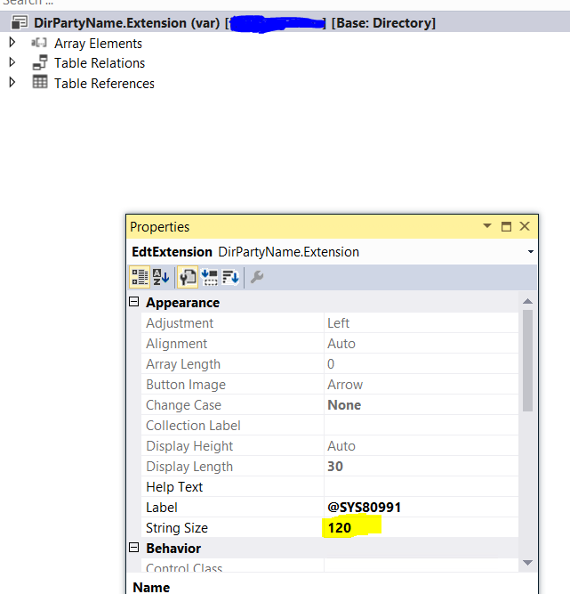 Microsoft Dynamics 365 for Operations : How to extend size of EDT in