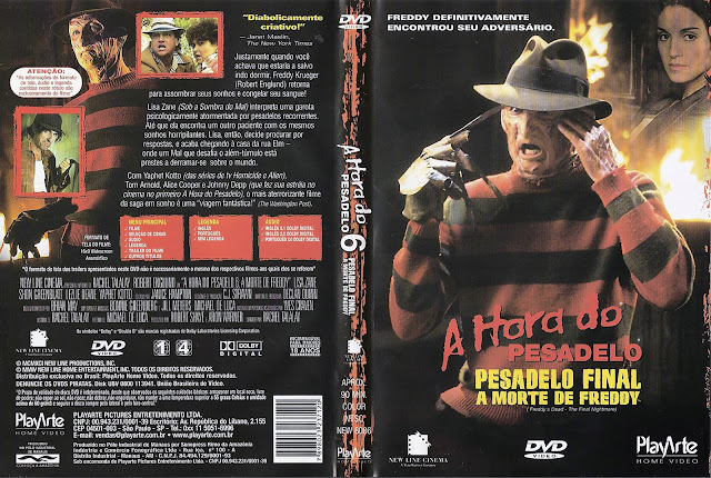 Capa DVD A Hora do Pesadelo 6 Pesadelo Final A Morte de Freddy
