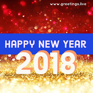 Red and light yellow Sparkling BG pic New year