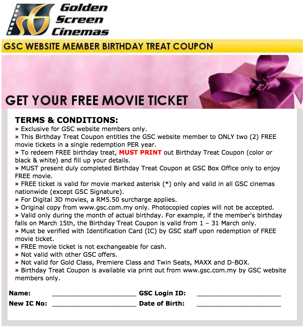 Movie tickets discount coupons