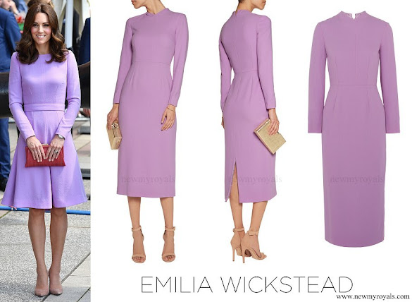 Kate Middleton wore Emilia Wickstead Esther Pespoke wool-crepe midi dress
